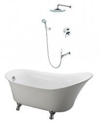 Bồn tắm nằm Caesar KT1160 + Sen âm tường