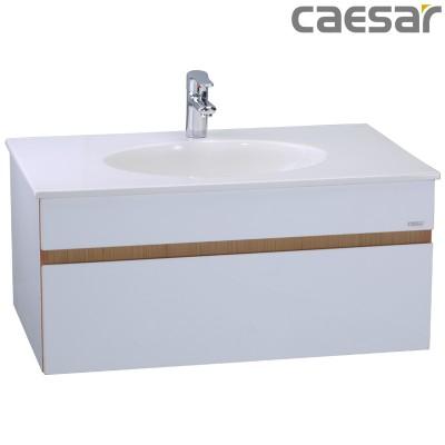 Chậu rửa Lavabo Caesar LF5026 + Tủ lavabo EH05026 DDV