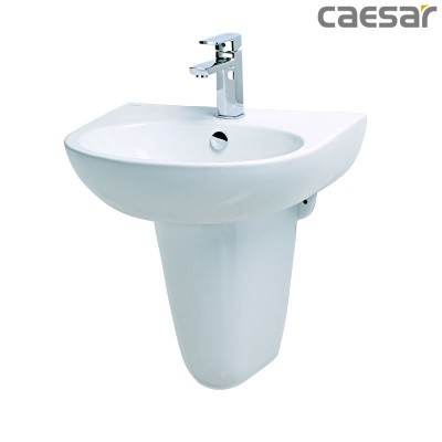 Chậu rửa Lavabo treo tường Caesar L2152 + Chân treo P2443