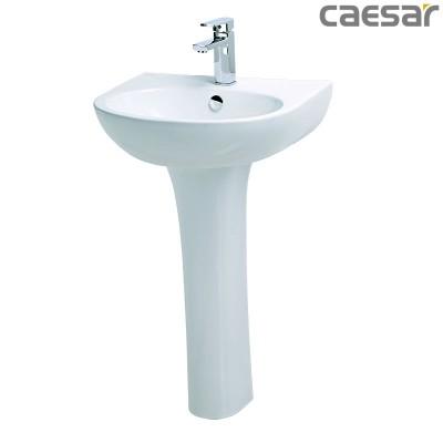 Chậu rửa Lavabo treo tường Caesar L2152 + Chân đứng P2445