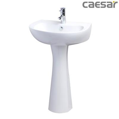 Chậu rửa Lavabo treo tường Caesar L2155 + Chân đứng P2440