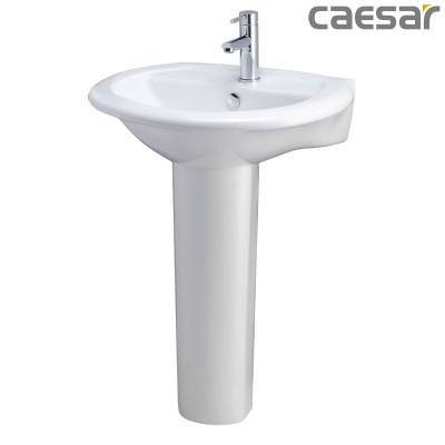 Chậu rửa Lavabo treo tường Caesar L2360 + Chân đứng P2437