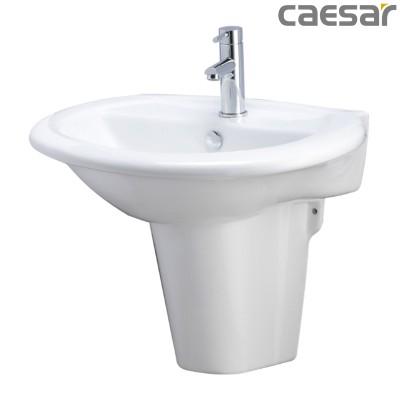 Chậu rửa Lavabo treo tường Caesar L2360 + Chân treo P2439