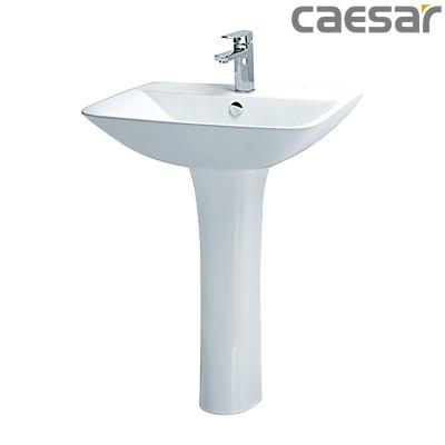 Chậu rửa Lavabo treo tường Caesar L2365 + Chân đứng P2445