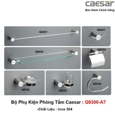 Bộ phụ kiện phòng tắm bằng inox Caesar Q8300-A7