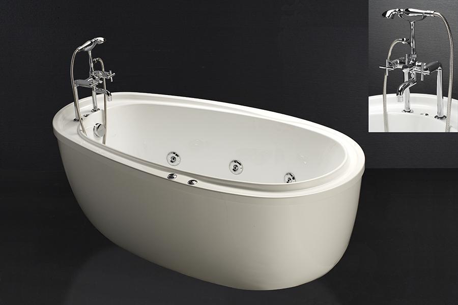 Bồn tắm massage có chân yếm caesar MT6480 bao gồm vòi